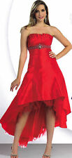 Short /Long  Ball Gown Dress Party Prom Pageant Gala Evening Bridesmaid Red  4