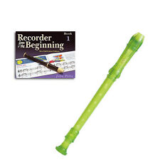 Yamaha Descant school recorder green YRS-20BG  with  Recorder Book 1