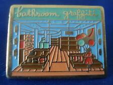 PINS RARE BATHROOM GRAFFITI ART DECO DESIGN FASHION MODE