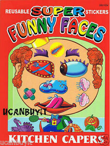 Super & Wild Funny Faces KITCHEN CAPERS Sticker Book Ages 3+