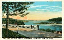 BRIDAL VEIL OR GRAND VIEW OF THE COLUMBIA RIVER POSTCARD c1930s