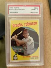 1959 Topps #439 Brooks Robinson PSA 6 EX-MT Great colors nice centering