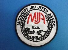 Vintage Midwest Jiu Jitsu Association Mma Uniform Gi Patch Crest 555