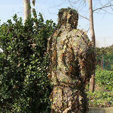 Ghillie Suit Tarnanzug Tarnung 3D Camo Dschungel Woodland Kleidung Jagd Schießen