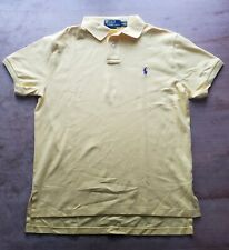 Ralph Lauren Polo Mens Custom Fit Yellow Medium Purple Horse