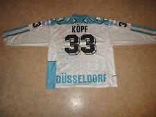 "Düsseldorfer EG Blacky Eishockey Trikot 1991/92 ""EPSON"" + Nr.33 Köpf Gr.XL- XXL"