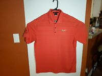 Nike Tiger Woods Golf Collection Dri-Fit Polo Men's Large L Red Ridgewood Lakes