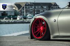20x11 20x12 +25 Rohana RF2 5x114 Red Wheel Fit Nissan 370Z Z34 2013 Staggered