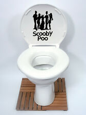 SCOOBY DOO Gang Stile (SCOOBY Poo) Divertenti Sedile Del Water Decalcomania Sticker marca new2