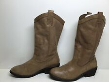 WOMENS JESSICA SIMPSON COWBOY BROWN  BOOTS SIZE 9 B