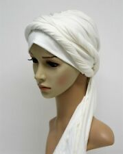 Volume turban hat with long ties, head wear, tichel, head snood, turban