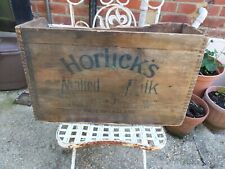 More details for vintage horlicks wooden packaging crate box display made in england