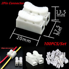 100x Self Locking Electrical Cable Connectors Quick Splice Lock Wire Terminal