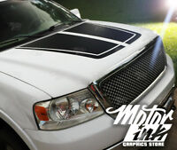 Ford F150 2009-2014 Hood Blackout Split Pinstripe Decal Racing Rally Stripes