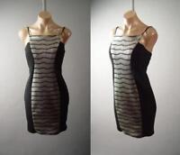 Black Metallic Gold Hourglass Club Strappy Slip Mini 283 mv Dress 1XL 2XL 3XL