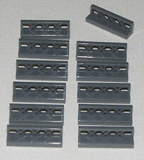 Lego Lot of 12 New Dark Bluish Gray Fences 1 x 4 x 1 Pieces