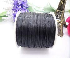 70Meter 1.5mm Hot Chinese Knot Satin Nylon Braided Macrame Beading Rattail Cord