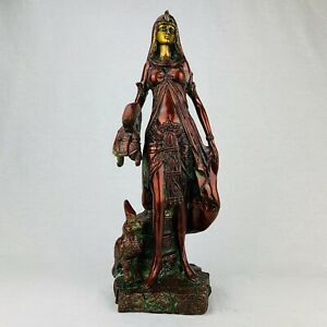 NEW Collectable Brass Cleopatra Statue Antique Sculpture Vintage Egyptian Roman