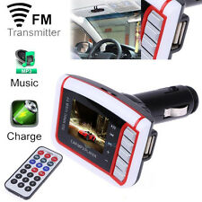 LCD Car MP3 MP4 Player Wireless FM Transmitter Modulator USB SD/MMC Card+Remote