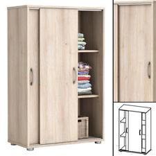 Kommode NEXT Akazie Schiebetüren Wäscheschrank Badschrank Holz Schieber
