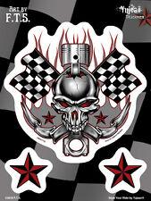 Sticker Aufkleber Decal Racing Scull Motorcycles Biker Harley Totenkopf MC Auto