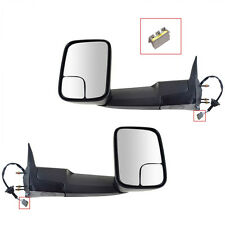 Dodge Ram 1500 2500 3500 94 95 96 97 Power Non Heated Towing Mirror Pair Set