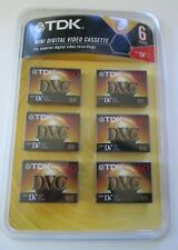 Tdk Mini Digital Video Cassettes Sealed 6-Pack Dvc 60 Min