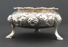 1864 Henry Holland Sterling Silver Master Salt Cellar Or Dish Made in London