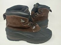 NEW! Coleman Men's Glacier Mid Lace Up Shell Insulated Boots Brown/Black 142Q tr