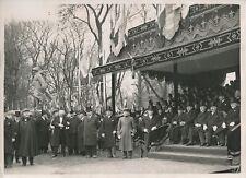 PARIS c. 1930 - Albert Lebrun Tribune Inauguration Statue de Clémenceau- PRM 369