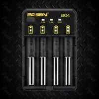 Basen BO4 USB 4 Channel Lithium Ion Battery Charger / 26650 21700 20700 18650