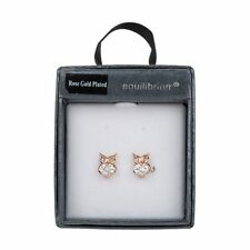 Crystal Butterfly Rose Gold Plated Stone Costume Earrings