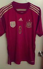 2010 World Cup Adidas Spain soccer jersey Xavi #8 mens Large
