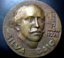 POET SILVA GAIO - CHURCH, BOOKS 85 mm 1970 BRONZE MEDAL by A. Viseu / N104