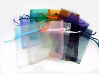 "12 Pcs 3"" X 5 1/2"" Organza Pouch Bags Mixed Colors Pre - Packaged"
