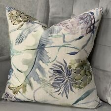 """Designer Cushion Cover 18"""" Voyage Meadwell Fabric Beautiful Floral Design"""