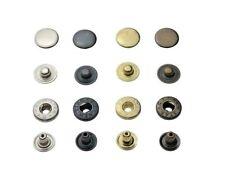 IstaTools® S-Feder Druckknöpfe ALFA / 15mm, stahl, Knopf, für Stoff, Leder