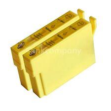 2 kompatible Tintenpatronen yellow für Drucker Epson SX440W SX235W