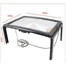 Foldable Full Page Large Hands Free Magnifier Magnifying Glass Lens for Reading