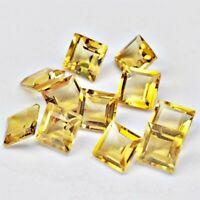 Wholesale Lot of 5mm Square Cut Natural Citrine Loose Calibrated Gemstone Brazil
