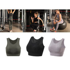 Women's Sports Bra Mesh Crop Tank Tops Yoga Fitness Running Stretch Athletic