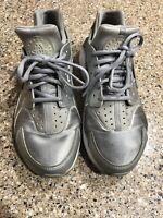 Nike Air Huarache Run SE Metallic Silver Women Running Shoes Size 9 859429-002