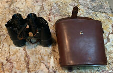 Vintage Japanese Binoculars with Leather Carrying Case Heavy Duty 17x50