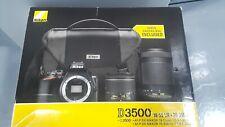 Nikon D3500 24.2 MP Digital Camera - Black (Kit 18-55mm & 70-300mm)