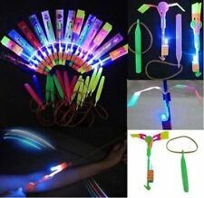 12X LED Copter Shooters Flying Rotating Rocket Helicopter Flash LED Light Toy UK