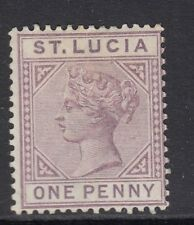 ST. LUCIA SG44, 1d dull mauve - mounted mint