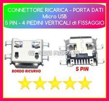 CONNETTORE RICARICA Micro USB 7 PIN (5+2) 0.72 mm 4 FISSAGGI x TABLET SMARTPHONE