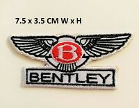 Bentley Car Iron On Sew On Embroidered Brand New Sports Car Jacket Leather N-145