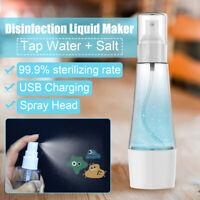 80ml Disinfection Spray Maker Sterilizing Hypochlorous Water Generator Machine