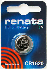 CR1620 Coin Battery Pack Renata 3V / for Watches Cameras Car Keys Torches